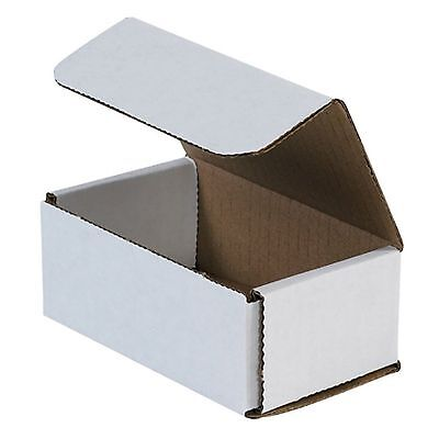 50 Pack 5x3x2 Small White Cardboard Carton Mailer Mailing Shipping Box Boxes