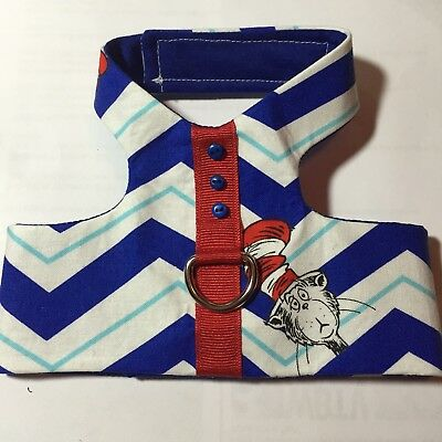 Dr Seuss Cat In The Hat Handmade Dog Harness Vest S (1304)