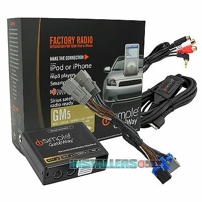 iSIMPLE GATEWAY GM FACTORY RADIO TO iPOD/iPHONE AUXILIARY INTERFACE ISGM575 Ipod Factory Radio