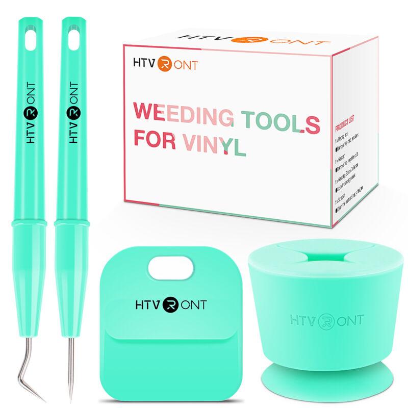 HTVRONT Craft Weeding Tool Set for Adhesive Vinyl, Heat Transfer Vinyl - 4 PCS