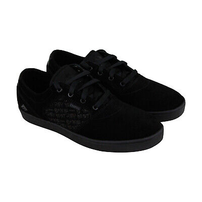 Emerica Figgy Dose X Baker Mens Black Suede Athletic Lace Up Skate Shoes (Lace Skate Shoes)