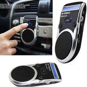 Solar Powered LED Speaker Bluetooth Handsfree Car Kit For Mobile Phone Cellphone