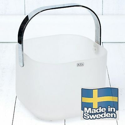 Kosta Boda Art Deco Style Glass FROST Ice Bucket - Designed by Rolf Sinnemark