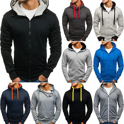 Kapuzenpullover Hoodie Sweatshirt Sweatjacke Zip Mix Herren BOLF 1A1 Motiv Hoodie Sweatshirt Jacke