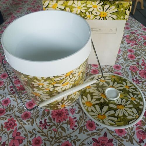 Vintage Retro Thermo Serv West Bend Daisy Ice Bucket 60