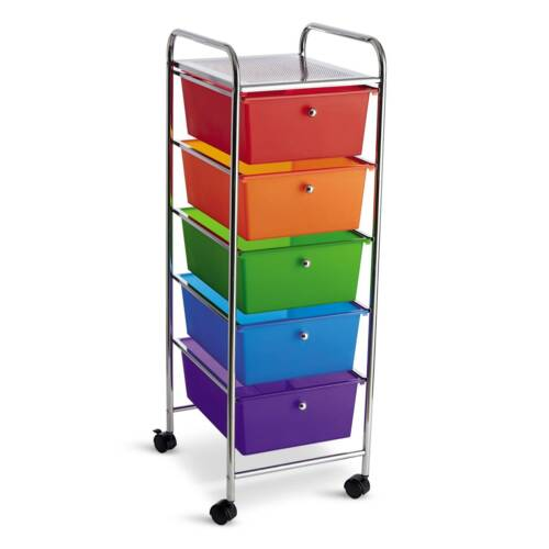 5 Drawer Rolling Cart by Simply Tidy