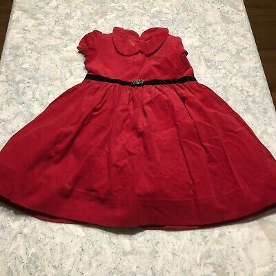 Baby Girl Ralph Lauren Red Corduroy Dress ~ 18 month Perfect- Christmas Holiday