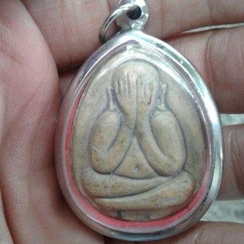 Phra Pidta Jumbo Talisman Takrut LP Toh Wat Pradu Chimplee Thai Buddha Amulet A