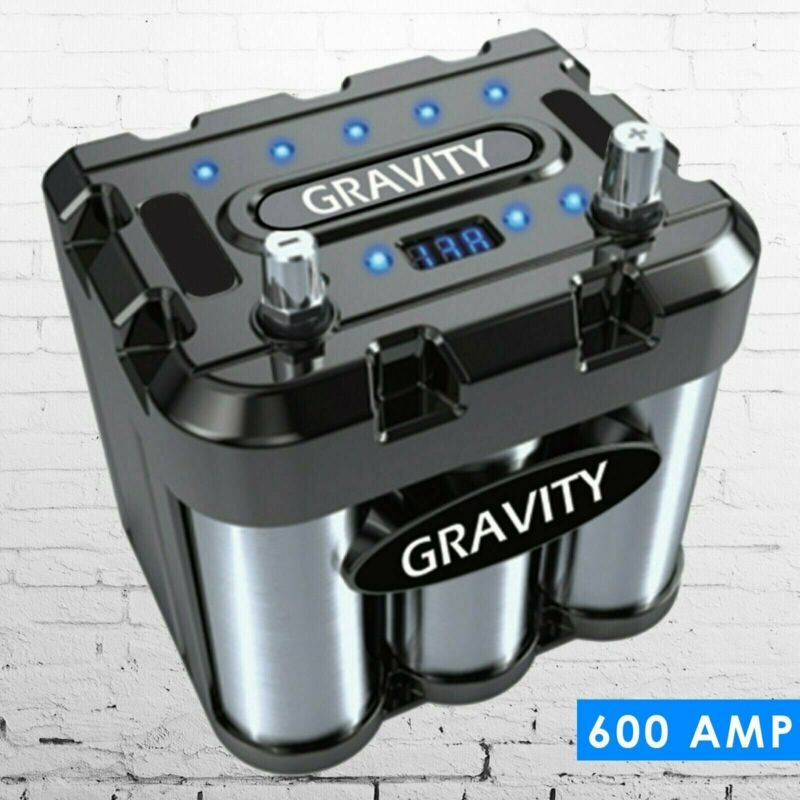 Gravity 600A Car Audio Battery Stiffening Power Capacitor Mobile Stereo System