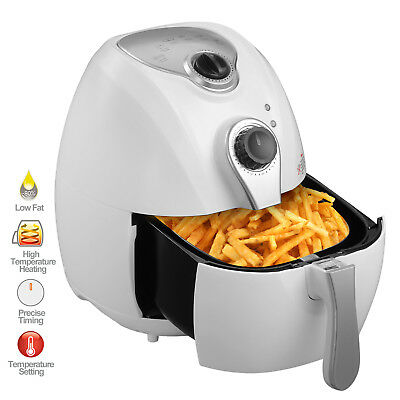 1300w 4.4qt Electric Oil Less Air Fryer Timer And Temperature Control White