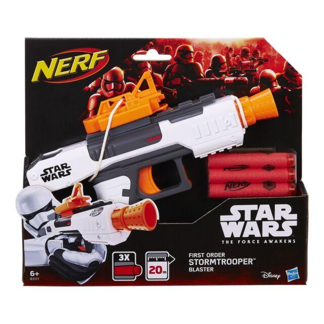Star Wars Stormtrooper Blaster NERF Kids Gun Children Fun Gift + 3 Foam Darts