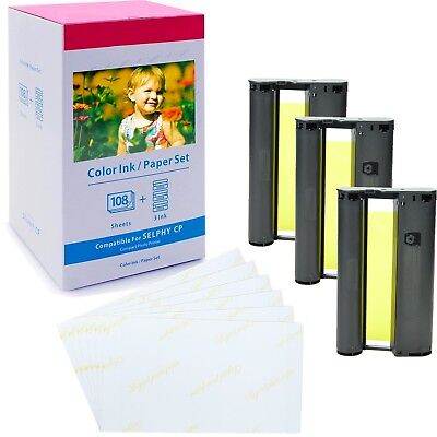 KP-108IN Color Ink Photo Paper for Canon Selphy CP1000 CP400 CP500 CP510 CP600