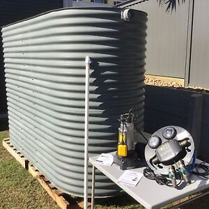 Water tank 5000L slimline colorbond with Davey pump Murrumba Downs Pine Rivers Area Preview