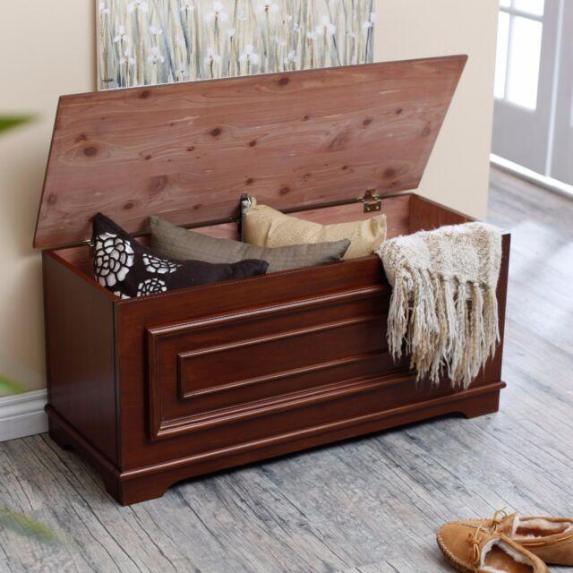 Hope Chest Storage Bench Bedroom Cedar Wood Furniture Hallway ...