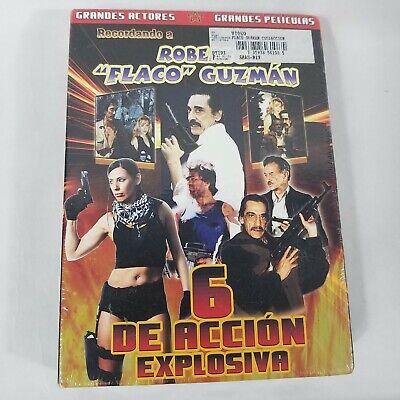 """Recordando Roberto """"Flaco"""" Guzman DVG Double Pack 6 Peliculas Mario Almada Nuevo"""