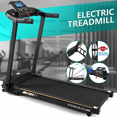 Motorized Electric Treadmill Multi-Layer Wide Runway Folding Automatic LED Wheel