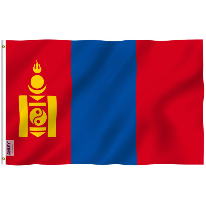 Anley Fly Breeze 3x5 Feet Mongolia Flag - Mongolian Flags Polyester