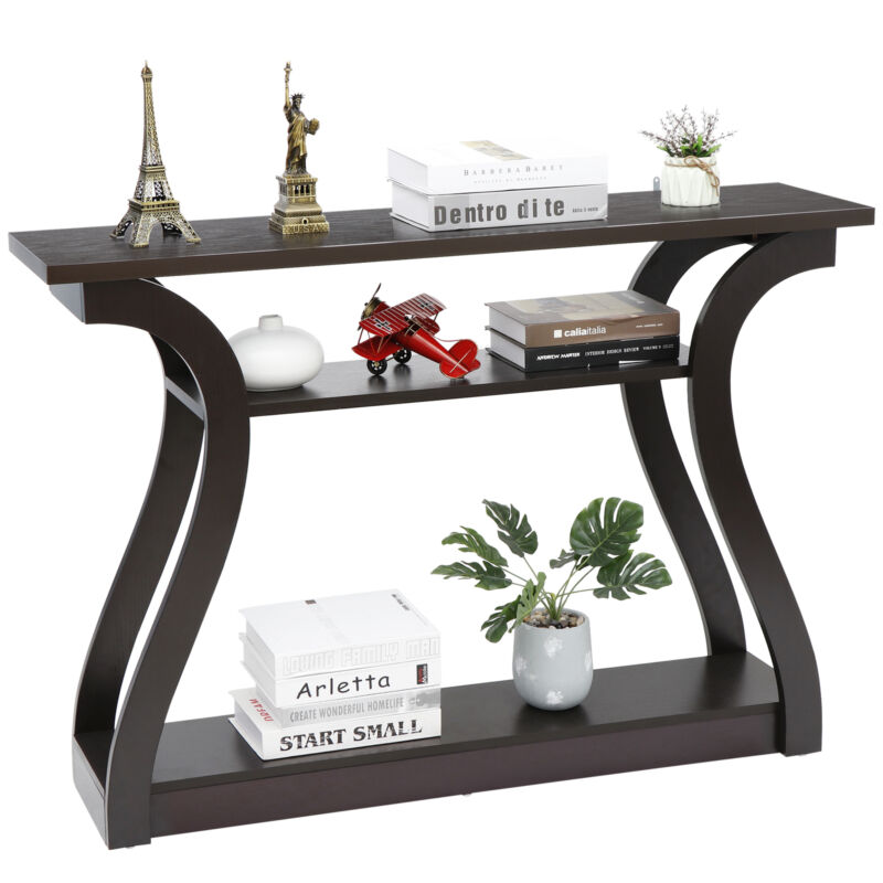 """47"""" Console Table Modern Accent Side Stand Sofa Entryway Hall Display Storage"""
