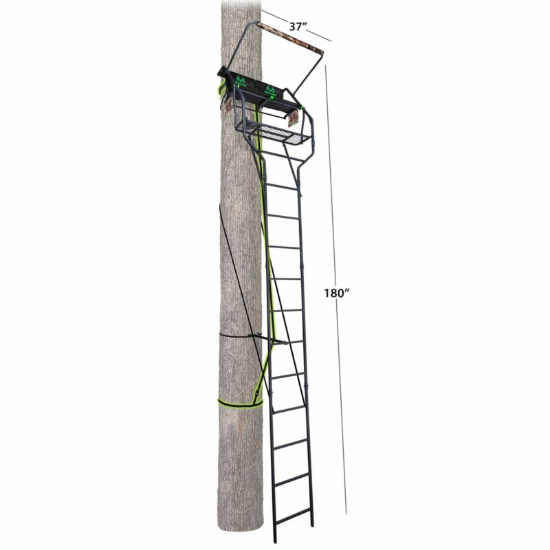 Realtree Deluxe 2 Man Tree Stand For Deer Hunting