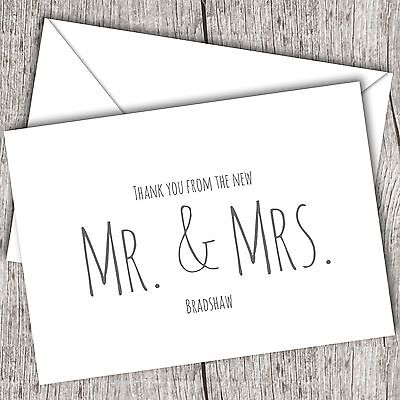 Wedding Thank You Cards • Personalised • Folded  • Includes Envelopes