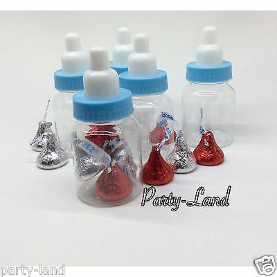 12 Fillable Bottles For Boy Baby Shower Favors Blue Party Decorations Baby Boy