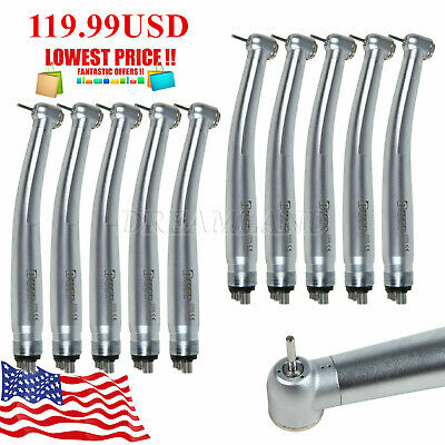 Usps 10dental High Speed Handpiece 4hole Pana Max Turbine Clean Head Fit Nsk