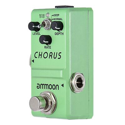 ammoon LN-304 Guitar Effect Pedal Analog Chorus True Bypass Alloy U5U5