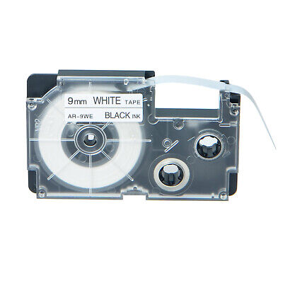 1pk Compatible With Casio Xr-9we Black On White Label Tape For Ez Kl-60 9mm 38