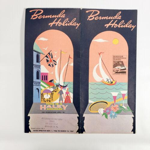 1966 Bermuda Vintage Travel Brochure Haley Holiday Great Graphics Island Art