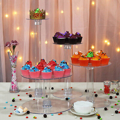 4 Tiers Clear Acrylic Wedding Cupcake CAKE Stand Birthday Party Events Display