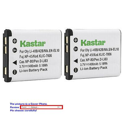 Kastar Replacement Battery for Kodak KLIC7006 LB-012 Kodak PixPro FZ53 Camera