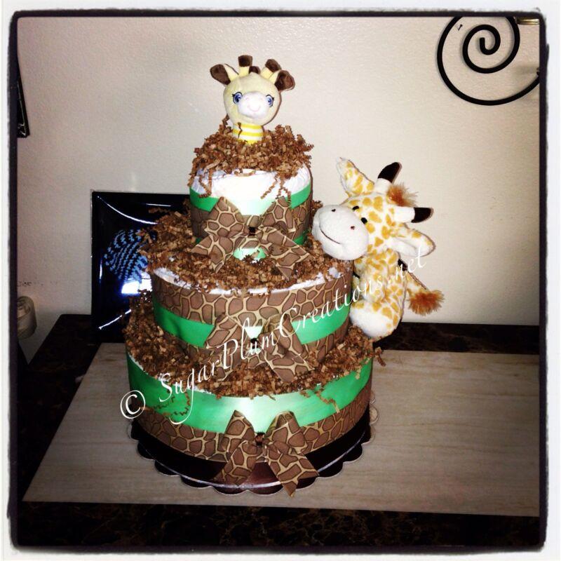 Giraffe Three Tier Diaper Cake