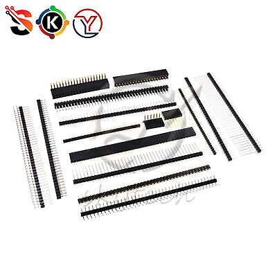 Pin Header Strip 3-40 Pin 1.27-2.54mm Round Straightright Angle Male Female