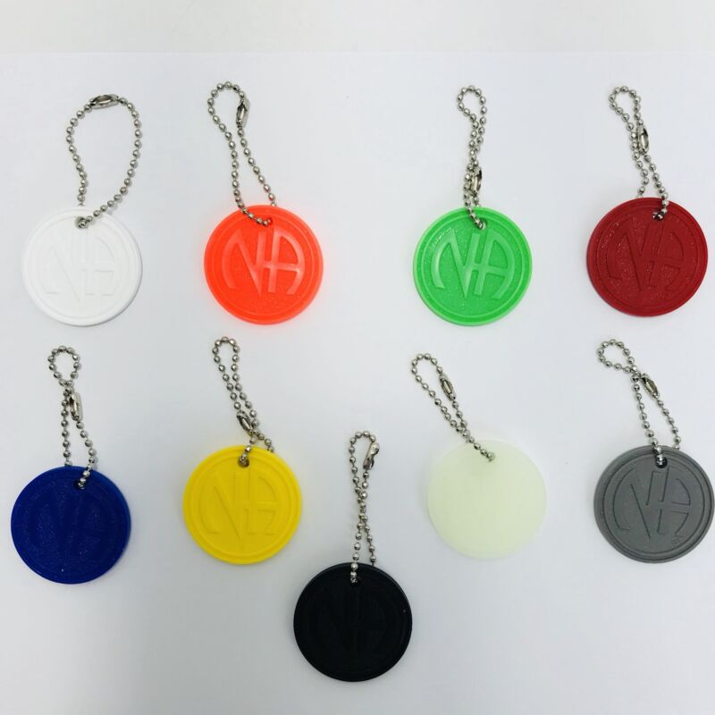 NARCOTICS ANONYMOUS NA CHIP TAG  Recovery Just For Today 9 Piece