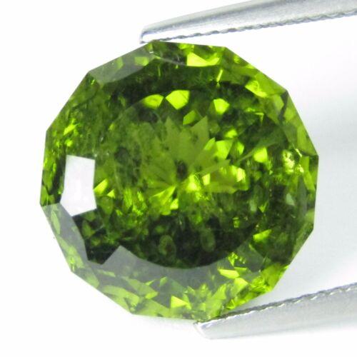 12.79Ct Natural Beautiful Green Peritot 14mm Round Custom Cut Loose Gem Ref VDO