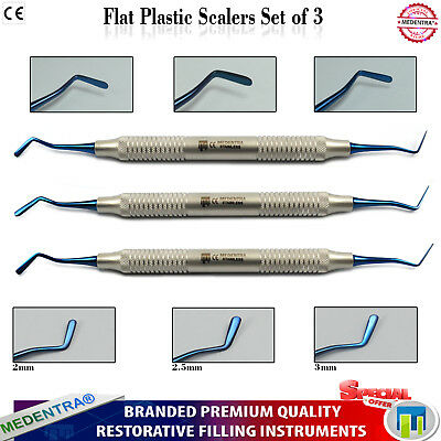 Dental Flat Plastic Filling Composite Restoration Instruments Titanium Medentra