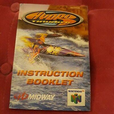 Notice du jeu Nintendo N64 FR hydro thunder