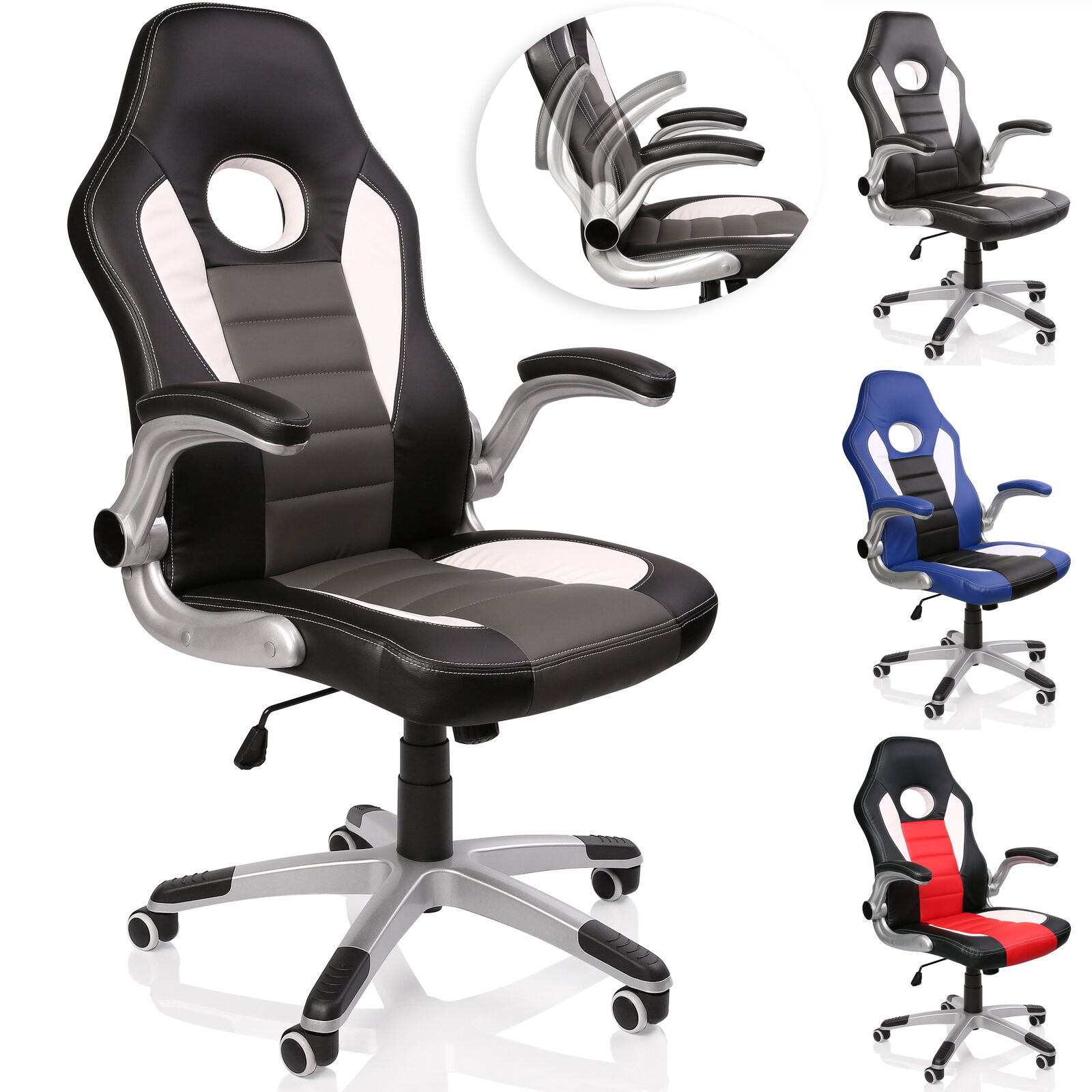 Racing Chefsessel Bürostuhl Drehstuhl Sportsitz Bürosessel Schreibtischstuhl