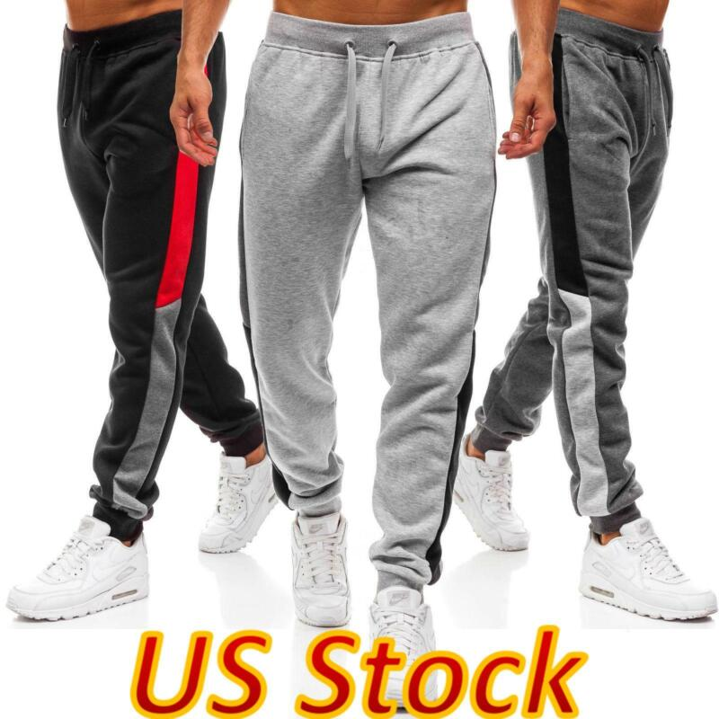 ✅mens Casual Fitness Joggers Tracksuit Sweatpants Pants Sports Gym Trousers Us