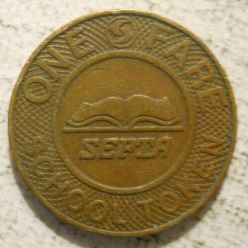 SEPTA (Philadelphia, Pennsylvania) school transit token - PA750AZ