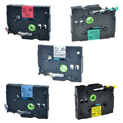 5 Pack Label Tape For Brother P-touch Pt-d210 Tz131 Tz431 Tz531 Tz631 Tz731 12mm