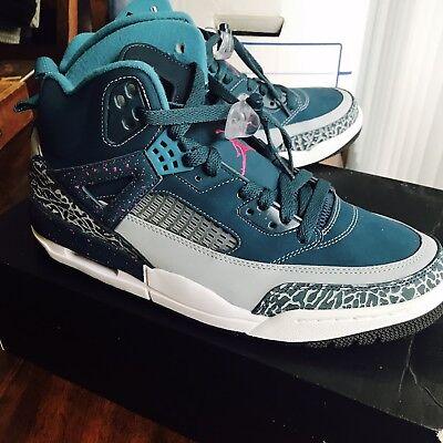 Nike Air Jordan Spizike Gray-Aqua Blue- 315371 407 Size 10.5 Men - Aqua Blue Jordans