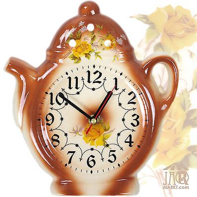 Reloj de Pared para la Cocina - Cerámica - Teekanne-Uhr en Estilo...