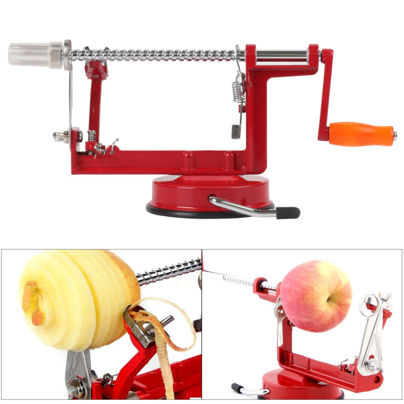 3-in-1 Edelstahl Apfelschäler Apfelschneider Apfelentkerner Apfelschälmaschine