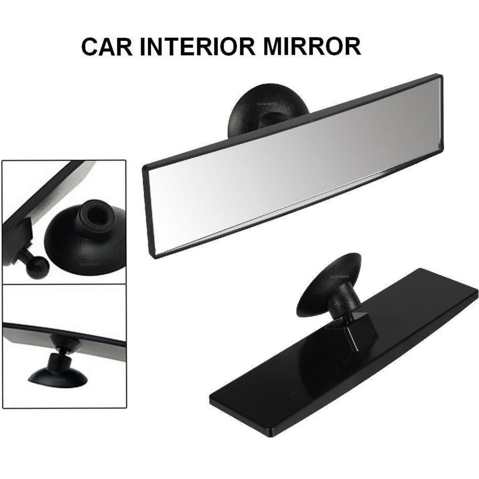 REAR VIEW SUCTION CUP DRIVING INSTRUCTOR MIRROR WIDE ANGLE UNIVERSAL FIT 81516