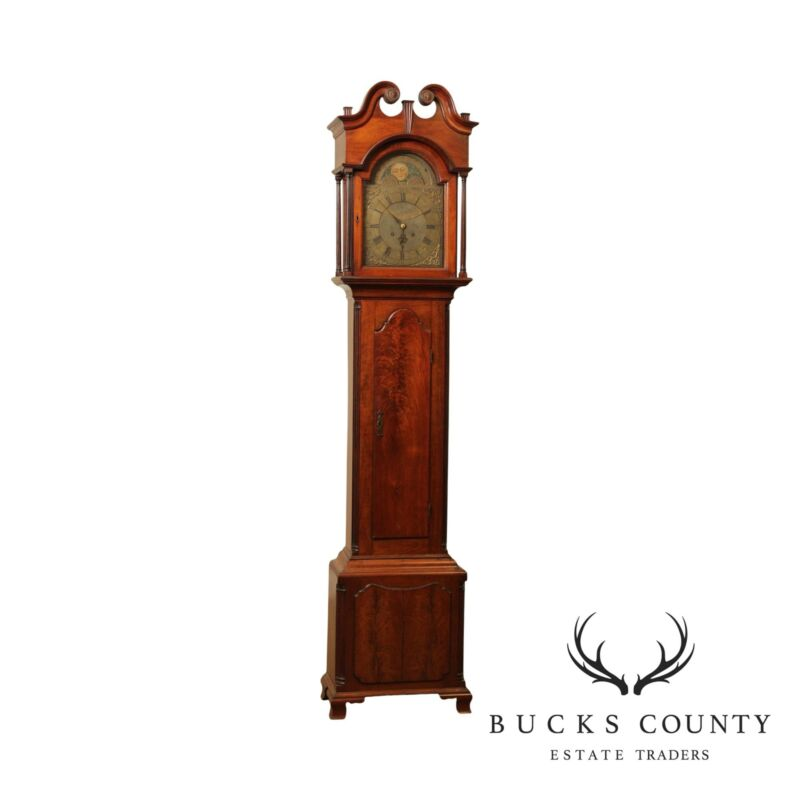 Frederick Dominick 18th Century Mahogany Chippendale Tall Case Clock