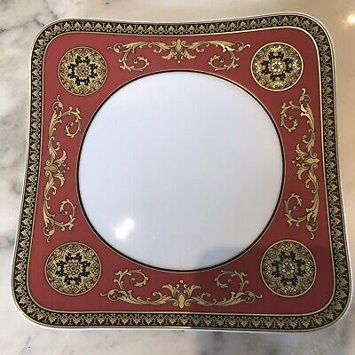Versace Medusa by Rosenthal Fine Porcelain Plate New Condition 8.25in Square.