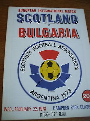 Scotland v Bulgaria 22-2-1978