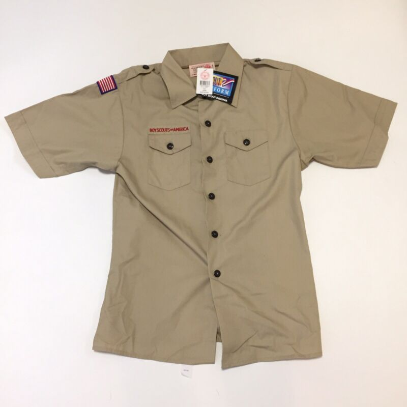 Boy Scouts of America Official Uniform Shirt Khaki NWT Youth Large