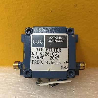Watkins Johnson Wj-5226-053 8.5 To 15.75 Ghz Sma F Yig Tuned Filer